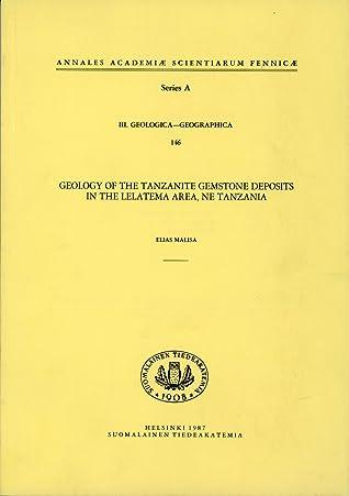 Geology of the tanzanite gemstone deposits in the Lelatema area, NE Tanzania