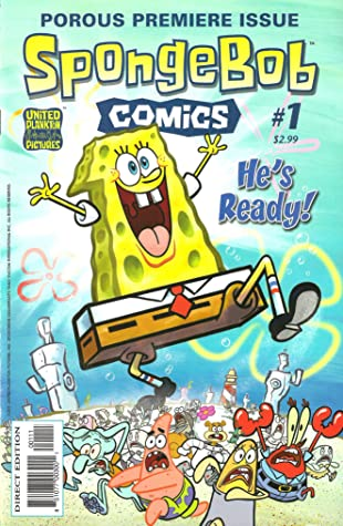 Sponge: Vol 1 Funny Adventure Cartoon SpongeBob Comics Graphic Novels SquarePants Books For Kids, Boys , Girls , Fans , Adults