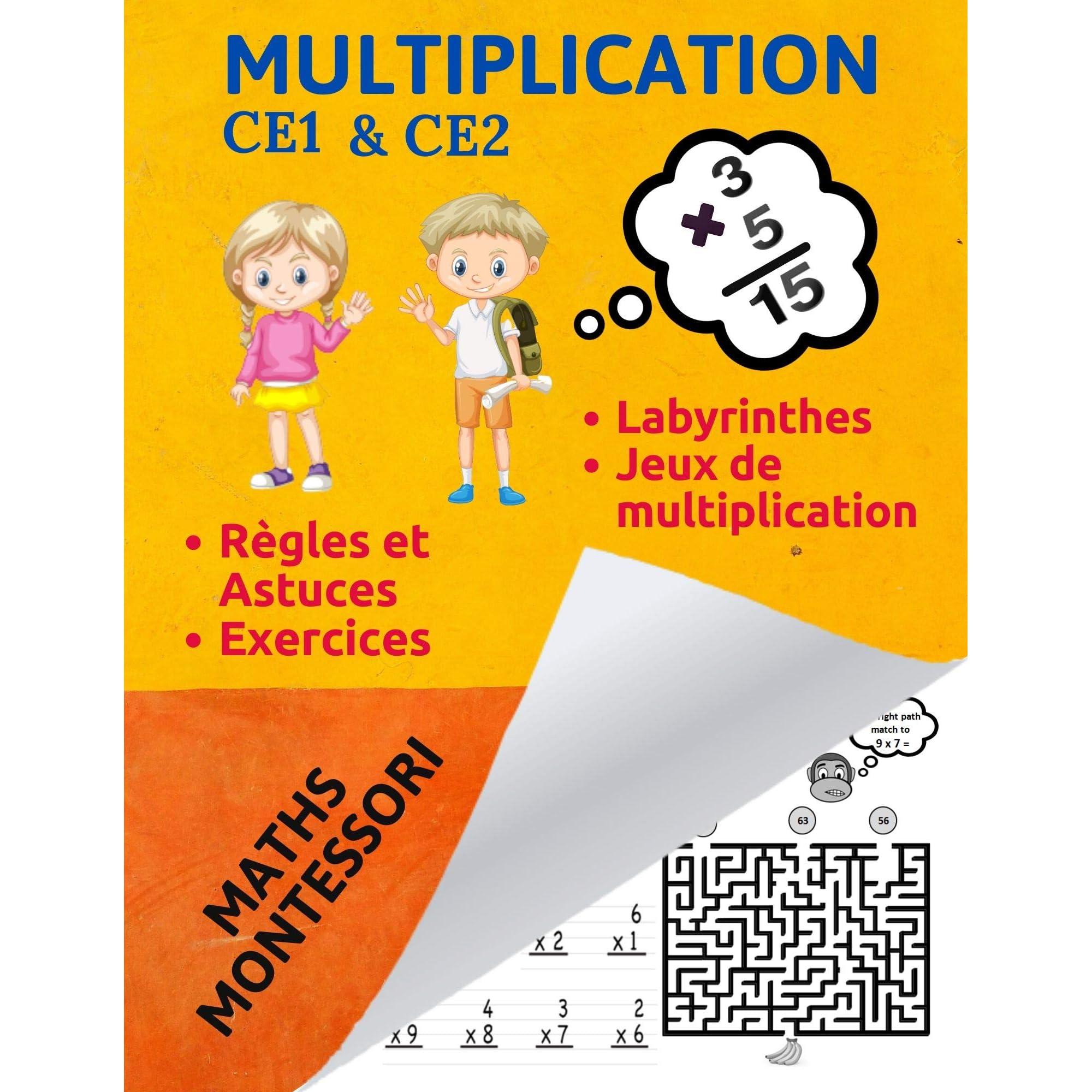 Multiplication Ce1 Multiplication Ce2 Math Ce1 Math Ce2 By Multiplication Montessori