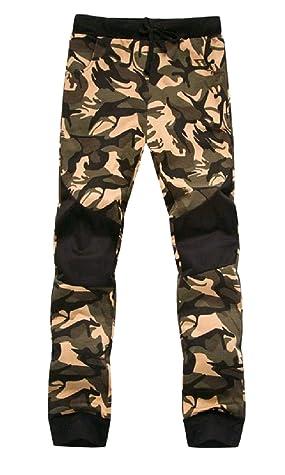 QueenHandsMen QueenHands Men's Leisure Harem Camouflage Chino Jogger Pant Tracksuit