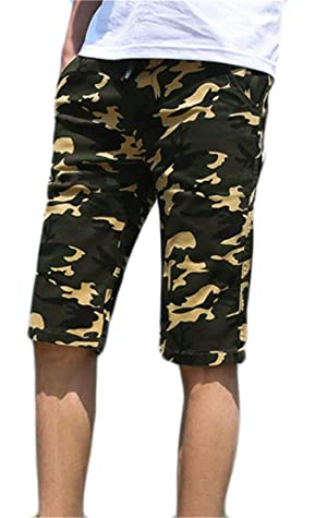 S-Fly Men's Hipster Camo Slim Fit Cotton Twill Flat-Front Chino Shorts