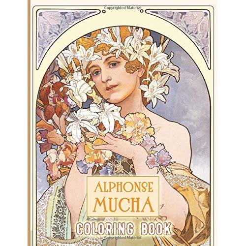 - Alphonse Mucha Coloring Book: Alphonse Mucha Anxiety Coloring Books For  Adult And Kid Unofficial High Quality By Alfred Davis