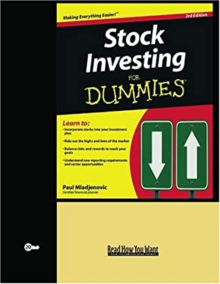 Stock Investing for Dummies (Volume 2 of 2) (EasyRead Super Large 20pt Edition)