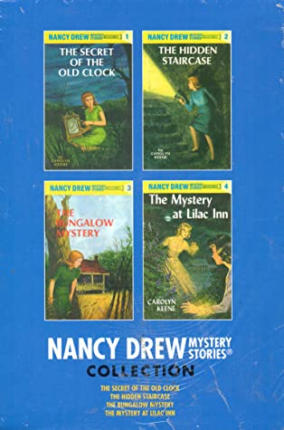 Nancy Drew Mystery Stories Collection Starter Books 1 to 4 Set: The Secret of the Old Clock, The Hidden Staircase, The Bungalow Mystery and The Mystery at Lilac Inn