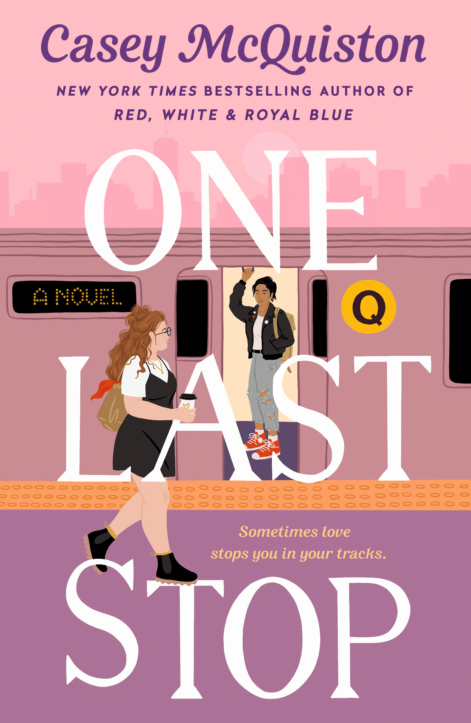 Photo of the cover for One Last Stop by Casey McQuiston