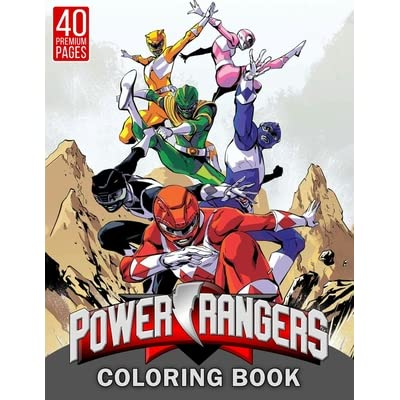Power Rangers Coloring Book: Funny Coloring Book With 40 Images For Kids Of  All Ages. By BBT Coloring Book