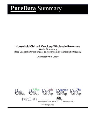Household China & Crockery Wholesale Revenues World Summary: 2020 Economic Crisis Impact on Revenues & Financials by Country