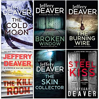 Lincoln Rhyme Series 7-12 Collection 6 Books Set By Jeffery Deaver (The Cold Moon, The Broken Window, The Burning Wire, The Kill Room, The Skin Collector, The Steel Kiss)