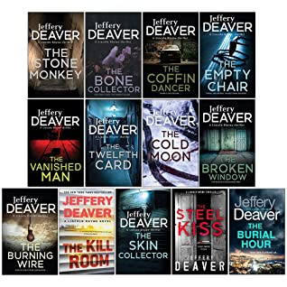 Lincoln Rhyme Book Series 13 Books Collection Set By Jeffery Deaver Vol 1-13 (Bone Collector, Coffin Dancer, Empty Chair, Stone Monkey, Vanished Manm, Twelfth Card, Cold Moon, Broken Window, Burning W