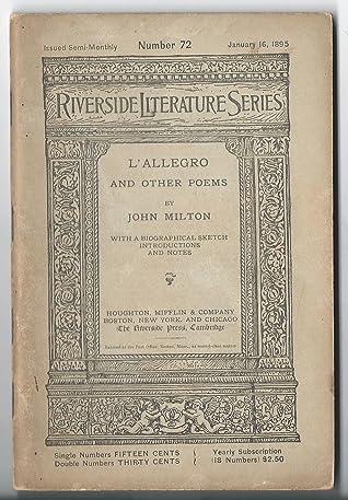 Minor Poems by John Milton by John Milton