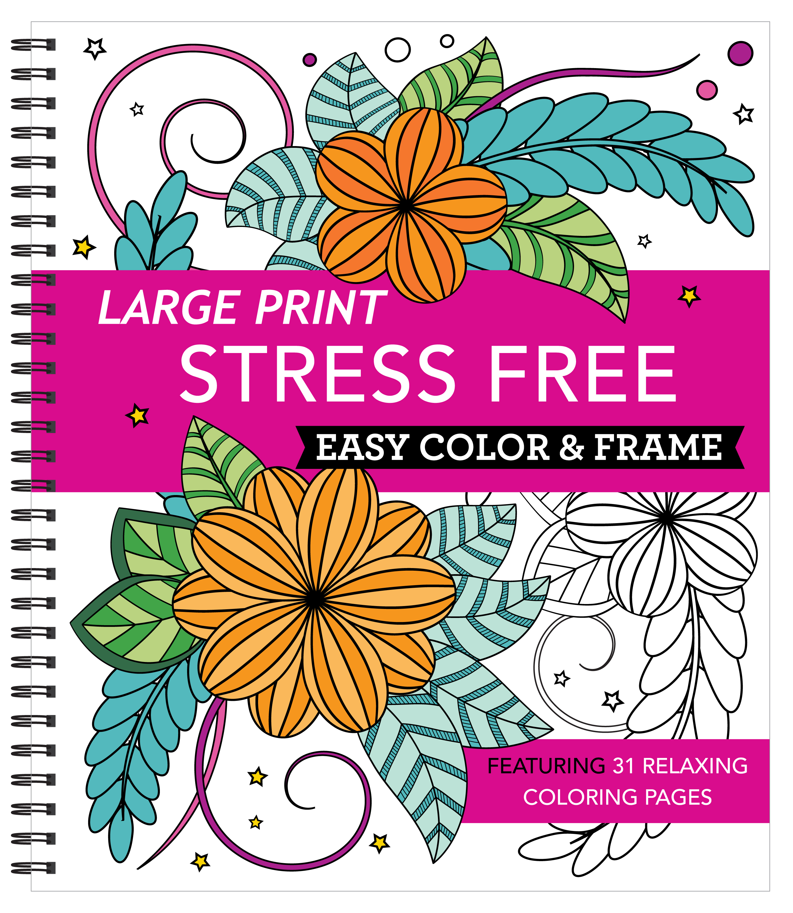 Epub Large Print Easy Color Frame Stress Free Adult Coloring Book Book By New Seasons Uyisartdpdf