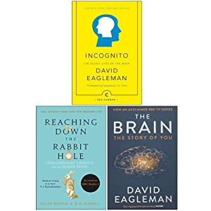Incognito The Secret Lives of The Brain, Reaching Down The Rabbit Hole, The Brain The Story of You 3 Books Collection Set