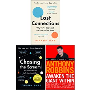 Lost Connections, Chasing the Scream, Awaken The Giant Within 3 Books Collection Set
