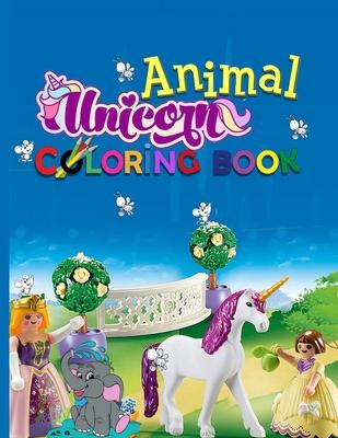Animal Unicorn Coloring Book Unicorn Cute Horses Dolphins Birds Owls Elephants Dogs Cats Turtles Bears Rabbits