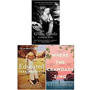 The Glass Castle, Educated, Where the Crawdads Sing 3 Books Collection Set