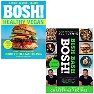 Bosh! Healthy Vegan, [Hardcover] Bish Bash Bosh 2 Books Collection Set By Henry Firth, Ian Theasby