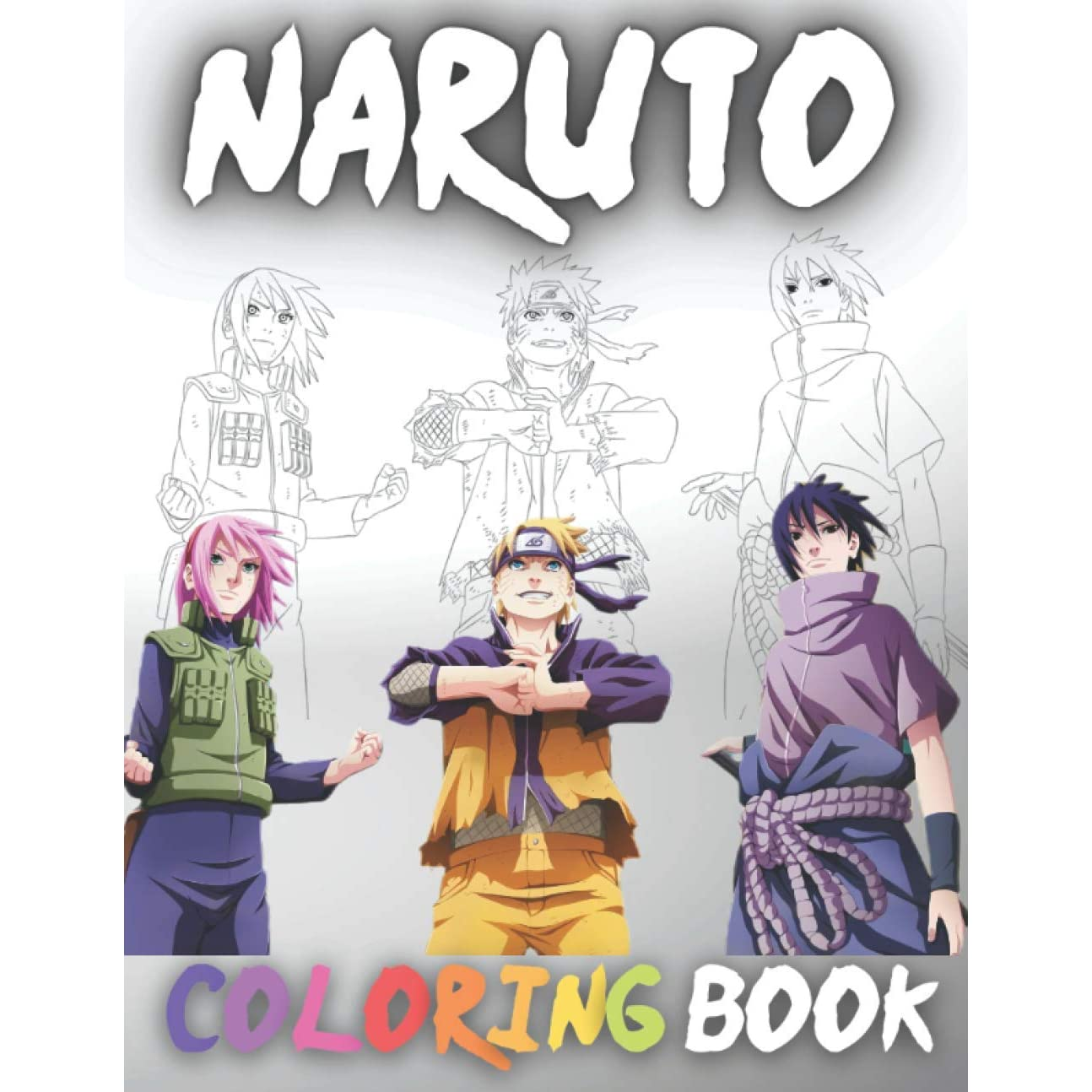 Naruto Coloring Book Naruto Shippuden Coloring Book Anime For Adults Teens And Kids 35 Hd Unique Illustration To Color Of Naruto Sasuke Sakura And Others By Coloring Vip Books Pro