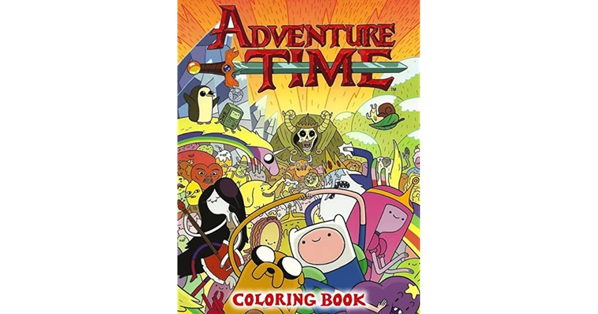 Adventure Time Coloring Book: A Coloring Book For Kids And Adults With  Wonder Woman Pictures, Relax And Stress Relief By Goo Book