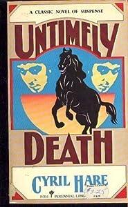 Untimely Death  (Francis Pettigrew, #5)