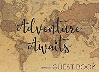Adventure Awaits Guest Book: Vintage Map Travel Theme for Baby Showers, Weddings, Wedding Showers, and Retirement Parties
