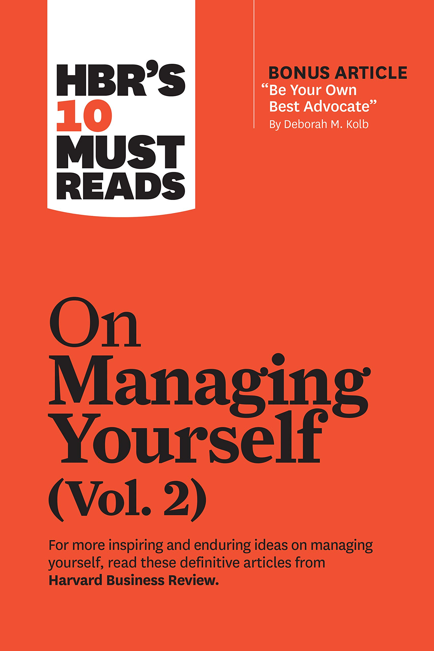 HBR's 10 Must Reads on Managing Yourself 2