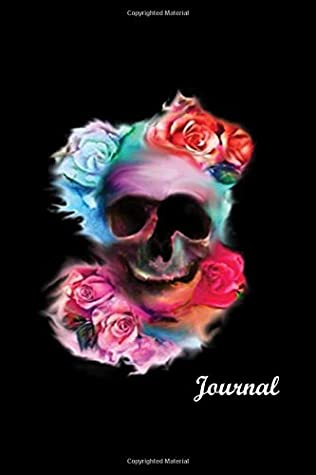 """Rose Skull Notebook Journal, Black Glossy Cover, White Paper Blank Lined Book for Journaling. Can be used by Girls and Teens for Writing Taking School Notes Diary and Planner, 6""""×9"""", 100 Pages"""