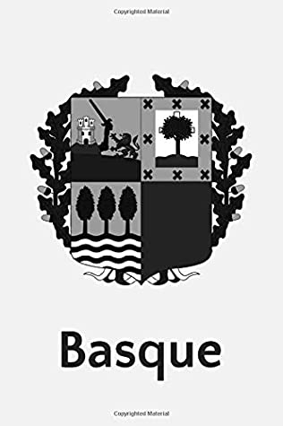 Basque: Coat of Arms Black and White 120 Page Lined Notebook
