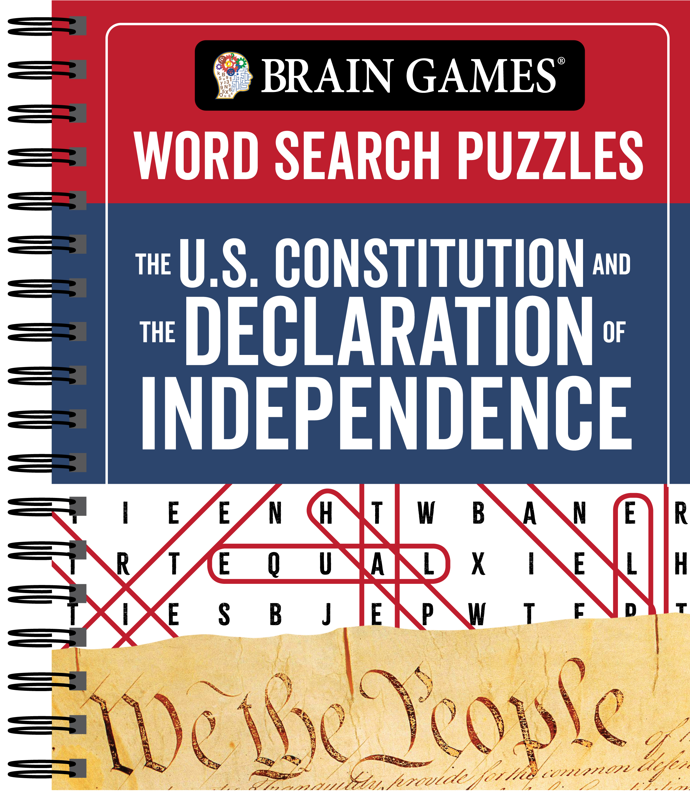Brain Games - Word Search Puzzles: The U.S. Constitution and the Declaration of Independence Publications International LTD, Brain Games