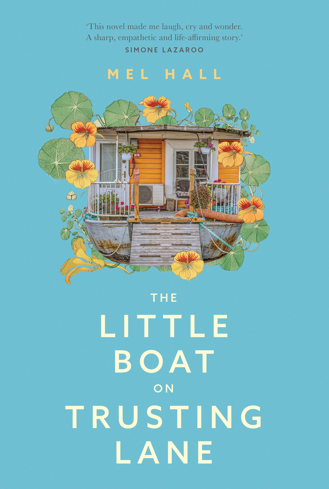 The Little Boat on Trusting Lane cover art with link to Goodreads description page