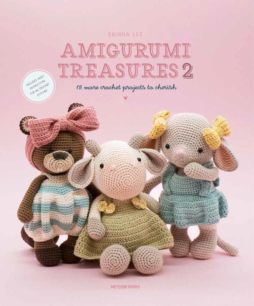 Crochet doll pattern Pink girl with sweetheart amigurumi pdf