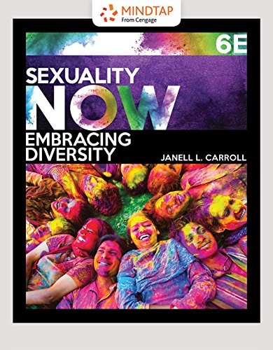 Mindtap Psychology, 1 Term (6 Months) Printed Access Card for Carroll's Sexuality Now: Embracing Diversity, 6th Janell L. Carroll