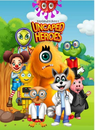 """Books For Kids: """"UNCAPED HEROES"""", defeating an annoying virus! Fun Stories, Children's Books, Activity Books for kids, Wellness Books For Kids Ages 4-9. CHILDREN'S STORY"""