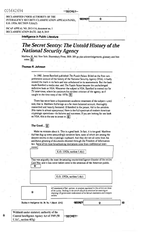 """Review of """"The Secret Sentry: The Untold History of the National Security Agency"""" by Thomas R. Johnson"""