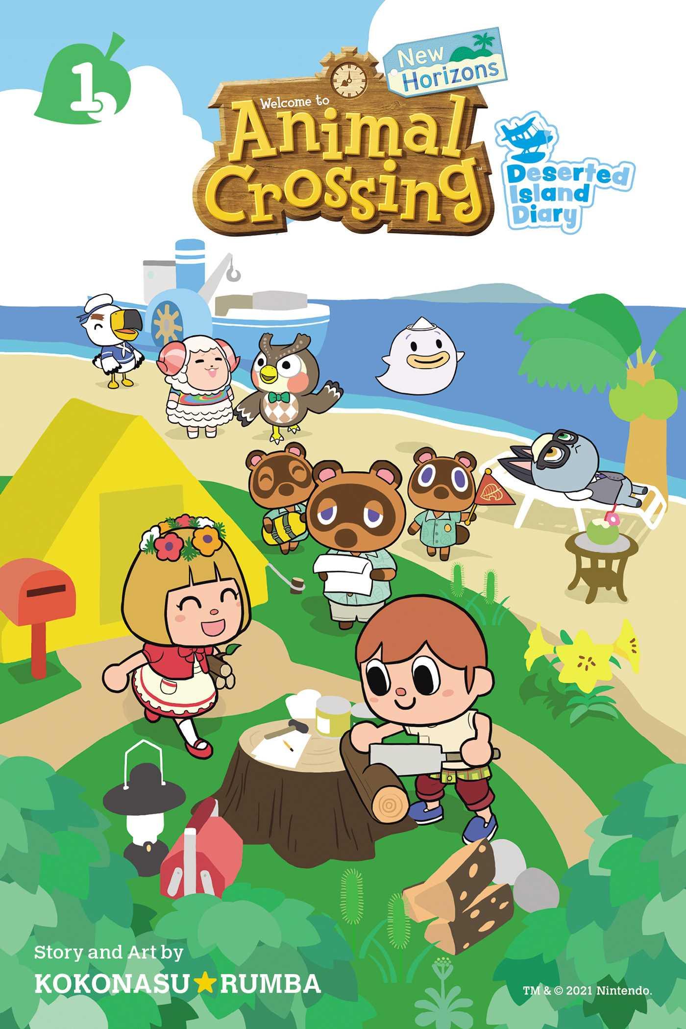 Animal Crossing: New Horizons: Deserted Island Diary, Vol. 1