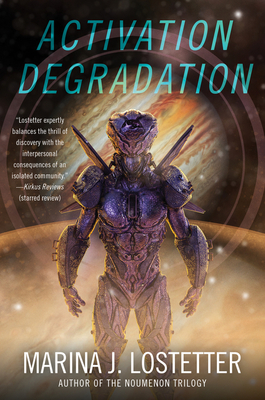 book features an alien-like android standing in front of a jupiter-like planet.