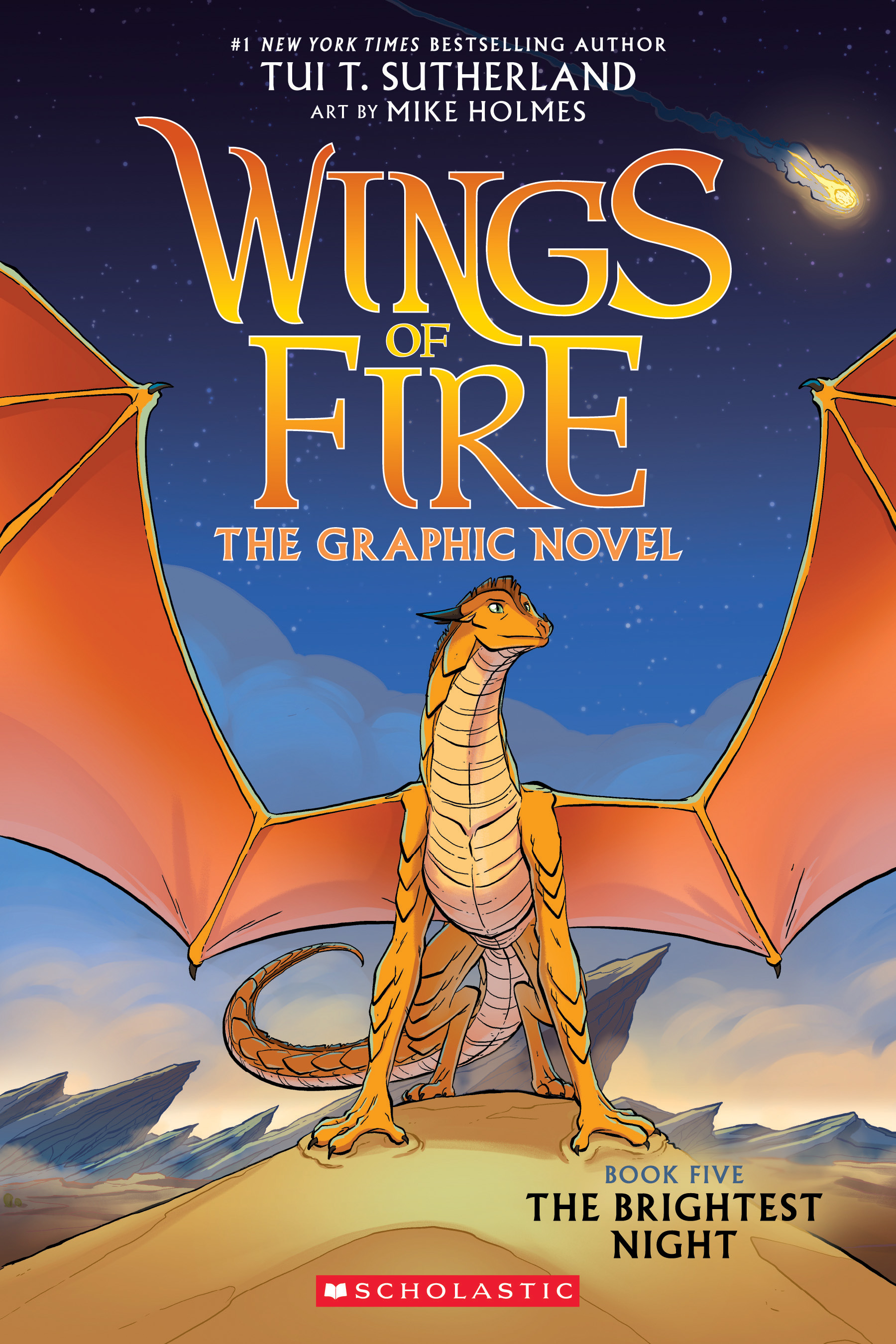 The Brightest Night (Wings of Fire Graphic Novel #5): A Graphix Book