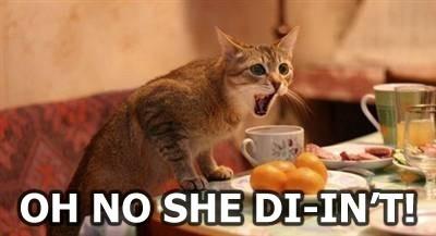 Oh no she di'int!