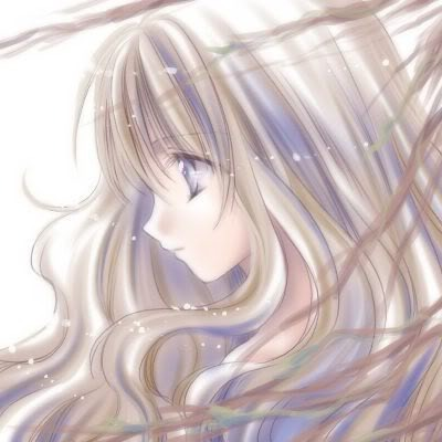 anime girl brown wavy pretty hair purple eyes Pictures, Images and Photos