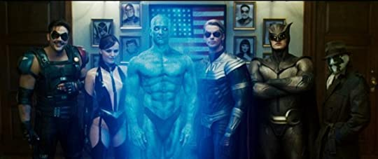 Photo of Watchmen (2009) with Billy Crudup, Malin Akerman, Matthew Goode, Jackie Earle Haley, Jeffrey Dean Morgan, Patrick Wilson. Pictured: Rorschach, Nite Owl II, Silk Spectre II, The Comedian, Dr. Manhattan, Ozymandias. Visit IMDb.com for more info.