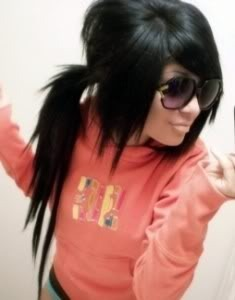 emo pony tails Pictures, Images and Photos