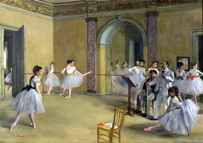 Dance Class at the Opera on Le Peletier Str., 1872