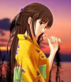 kimono anime girl