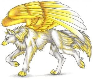 Anime Wolf Winged Pictures, Images and Photos