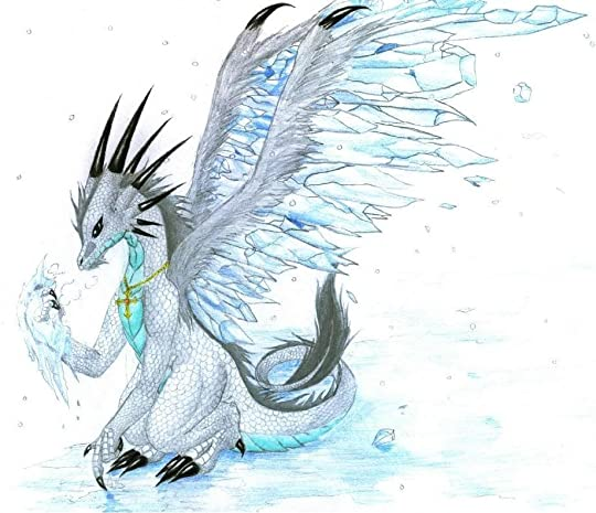 beautiful ice dragon
