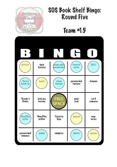 SOS book shelf bingo card