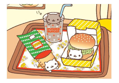 nyanko burger Pictures, Images and Photos