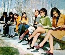Young, Westernized Iranian women in 1979.
