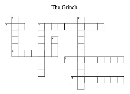 How the Grinch Stole Christmas Grinch crossword