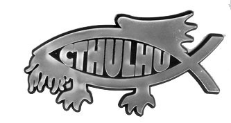 Cthulhu car badge