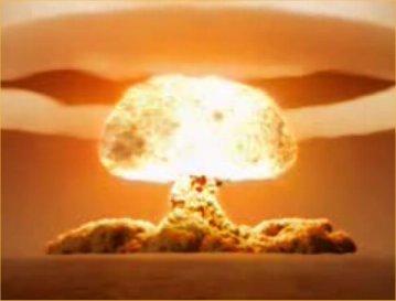 huge explosion